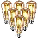 Edison Ampoule E27 Vintage, Ampoule Vintage Led Décorative HISAYSY 220V 4W / 6W Protection Oculaire Jaune Chaud, Ampoule Rétr