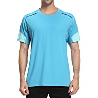 Men's Gym T-Shirt,Sports Short Sleeve top,Moisture Wicking Quick Dry Stretch Tee Breathable Running Tops for Men Gym…