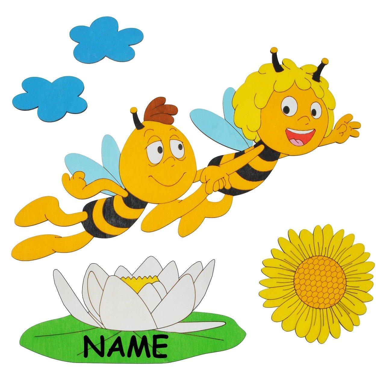 die Biene Maja mit Willi - 6 tlg. Set: Wandbild / Wandtattoo ...
