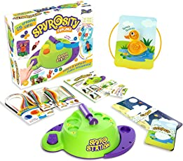 Quill On Spyrosity Quilling Based Creative Toy and Activity Set- with Patent Pending Motorized Tool for Boys and Girls Above 5 Years(Multicolour)