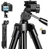 Fotopro Handy Stativ Kamera Stativ iPhone Stativ, 48 Zoll Smartphone Stativ für iPhone und Kamera Canon Nikon, Alumunium…