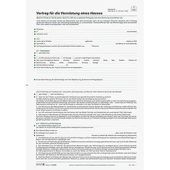 Baier Schneider Vertragsformular Mietvertrag Häuser A4 5 Blatt
