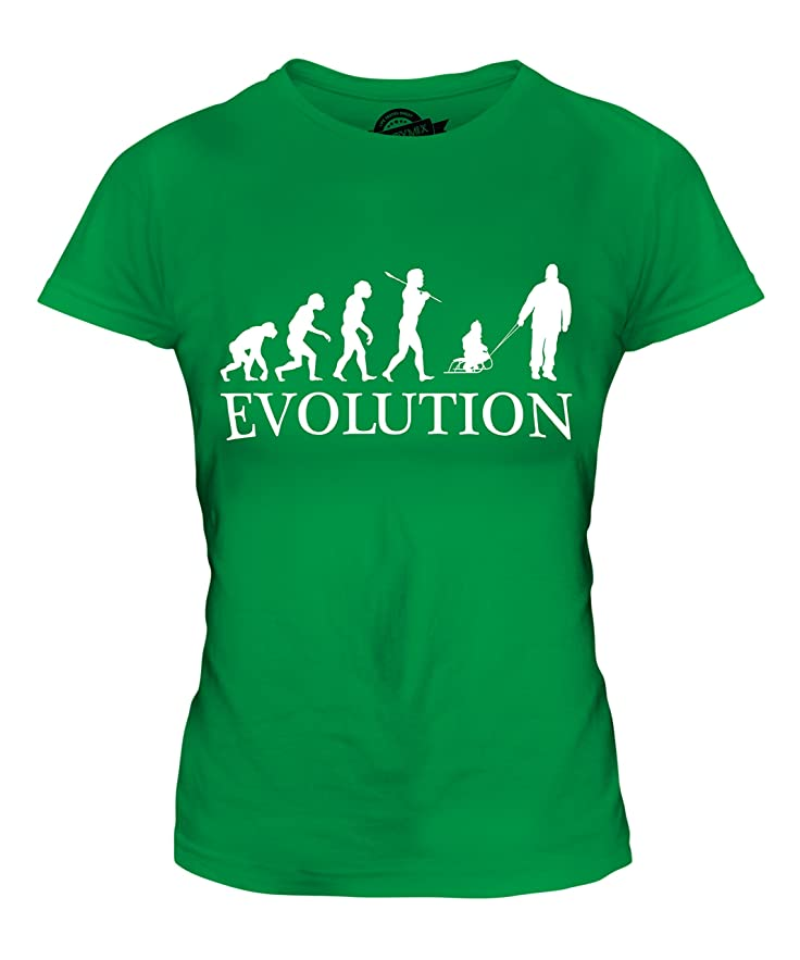 CandyMix Vater Und Kind Schlitten Evolution Des Menschen Damen T Shirt:  Amazon.de: Bekleidung