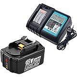 Oplader DC18RC DC18RA 3.0A met BL1850 Compatibele voor Makita batterij BL1830 BL1815 DHP458Z DCL500Z DGD800Z DVR450RME DHR242