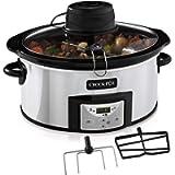 Crock-Pot Slow Cooker Pentola per Cottura Lenta, Capienza 5.7 Litri, con Pale Automescolanti, Adatta fino a 6-8 Persone…