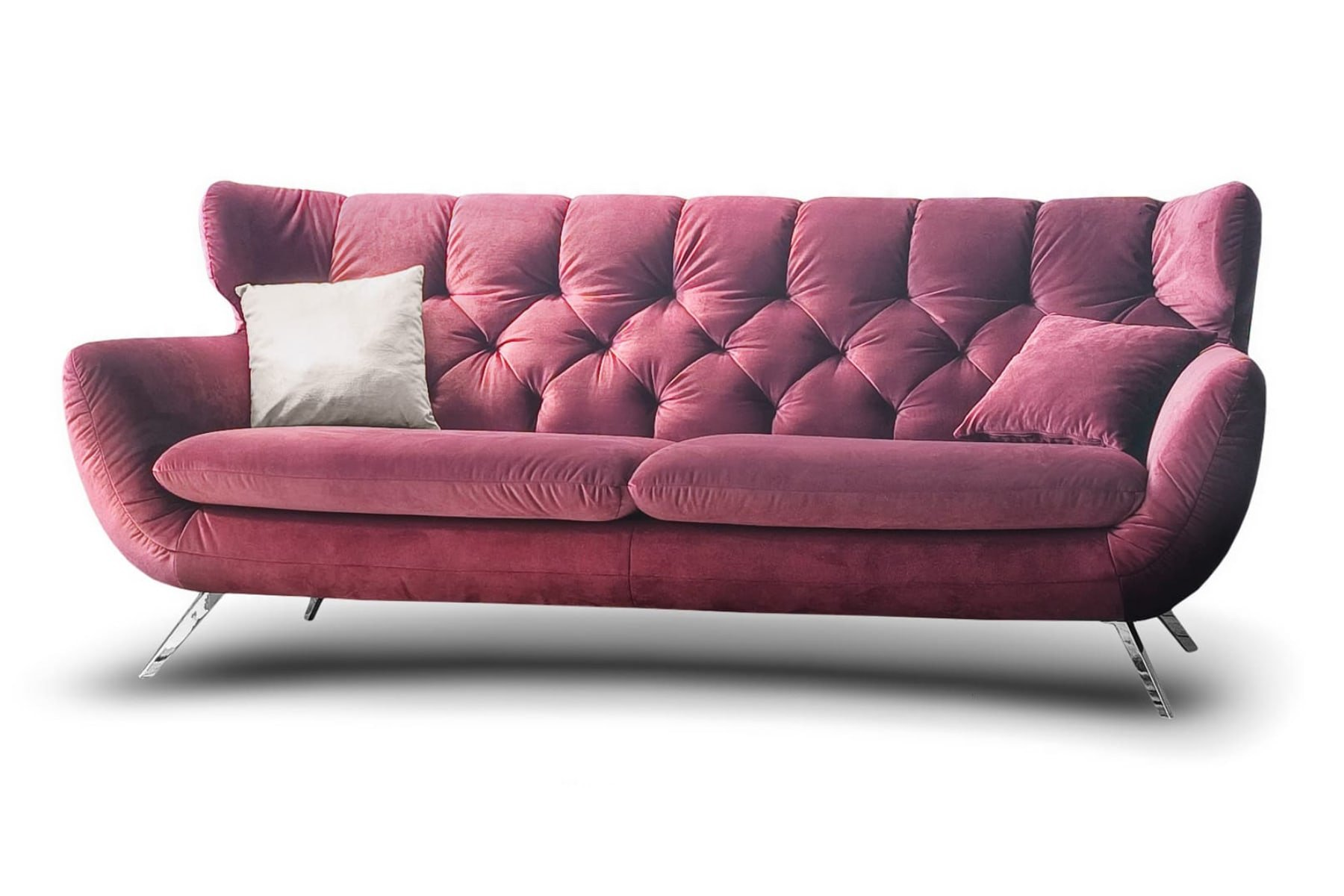 Designer Chesterfield Couch Garnitur 3 2 1 Sofa Set Candy Sixty