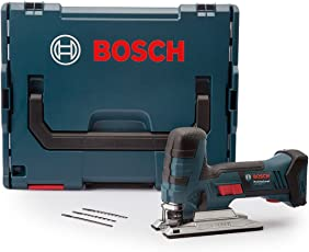 Bosch Professional GST 18 V-LI S Akku-Stichsäge, Schnitttiefen bis 120 mm Holz, 20 mm Alu, 8 mm Metall, Solo Version, L-BOXX, 1 Stück, 06015A5101