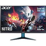 Acer Nitro VG271UPbmiipx 27 Inch Quad HD Gaming Monitor (IPS Panel, FreeSync, 144 Hz, 1 ms, HDR 400, DP, HDMI, Black/Blue)