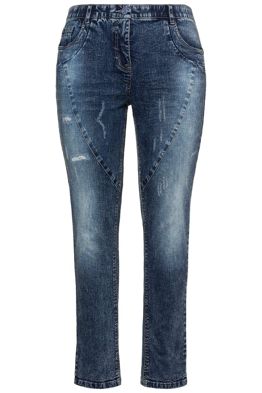 cfe1f3200981de Ulla Popken Große Größen Damen Skinny Jeans Ziernähten und Destroyeffekt |  Plussize-Fashion
