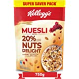 Kellogg's Muesli 20% Nuts Delight , Breakfast Cereal , High in Iron, High in Fibre , Naturally Cholesterol Free , 750g Pack