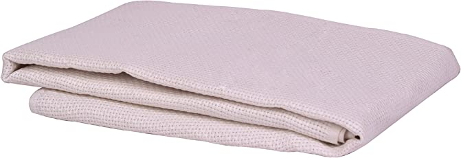VARDHMAN aida fabric Pony Cross Stich Needle Work 10 Count, Size 39 x 34 inches (ponymattyehite, White)