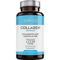 Collagene + Acido Ialuronico | Arricchito con Vitamina C, Zinco e Coenzima Q10 | Collagene Idrolizzato Per Mantenimento…