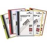 Durable 999109940 DURACLIP® 30 Lot de 5 Chemises de présentation à clip A4 30 feuilles Assortis