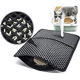 Pecute Estera de Arena para Gatos Impermeable Cat Litter Mat Alfombra de Basura Rascadores Litter Trapping Mat Doble Capa no