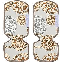 Kuber Industries Refrigerator Door Handle Covers, Set of 2,Rangoli,White, (Model: HS_37_KUBMART020146)