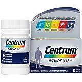 Centrum Men 50+ Multi Vitamines et Minéraux, Complément Alimentaire, Pour Hommes De 50 Ans et Plus, 30 comprimés