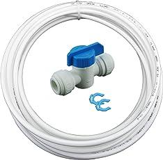 Wasserzulaufleitung Verlängerung Absperrventil Wasserschlauch f. Kühlschrank Filter Wasserfilter Umkehrosmose
