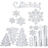 9 pièces Pochoirs de poinçonnage matrice de decoupe de modèles flocons de kit neige arbre de Noël renne cerf gaufrage découpe