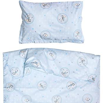 80266ff09203d Ours et cheval - Pati Chou 100% Coton Linge de lit pour bébé (Taie  d oreiller et Housse de couette 80x120 cm)