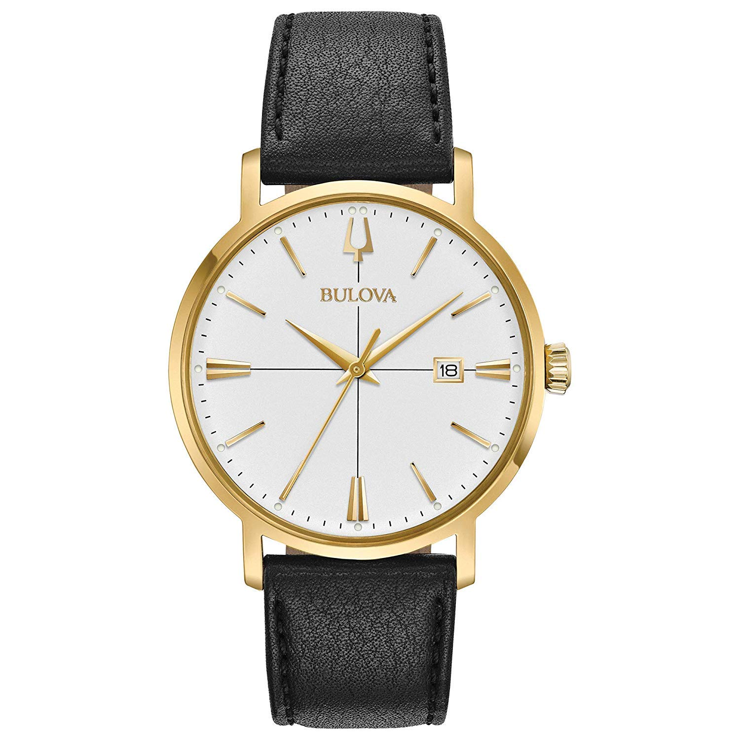 Bulova Mens Analogue Classic Quartz Watch with Leather Strap 97B172