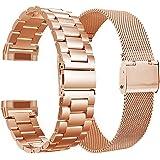 VIGOSS klockarmband i rostfri metall, kompatibel med Galaxy Watch Active 2, rem på 44 mm/40 mm