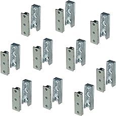 Gedotec Möbelverbinder verdeckt Bettverbinder SOLID Korpusverbinder aus Metall | Einhänge-Verbinder Beschlag für Betten, Möbel & Metallbau | Tragkraft bis 250 kg | 10 Set