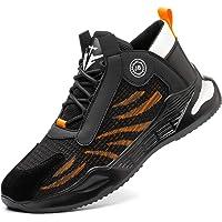 PAQOZKC Chaussure de Securité Homme Embout Acier Légères Baskets de Sécurité Femme S3 Chaussures de Travail Protection
