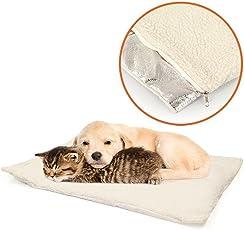 MareLight Selbstwärmendes Hundekissen / Haustierbett für Hunde und Katzen - Hitzereflektierende Schicht sorgt für Wärme und Gemütlichkeit für ihr Haustier, waschmaschinenfest, Reisverschluss