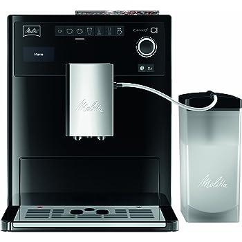 Melitta Machine à Café et Boissons Chaudes Automatique, Fonction My Coffee, Bean Select, Réservoir à Lait inclus, Caffeo CI, Noir, E970-103