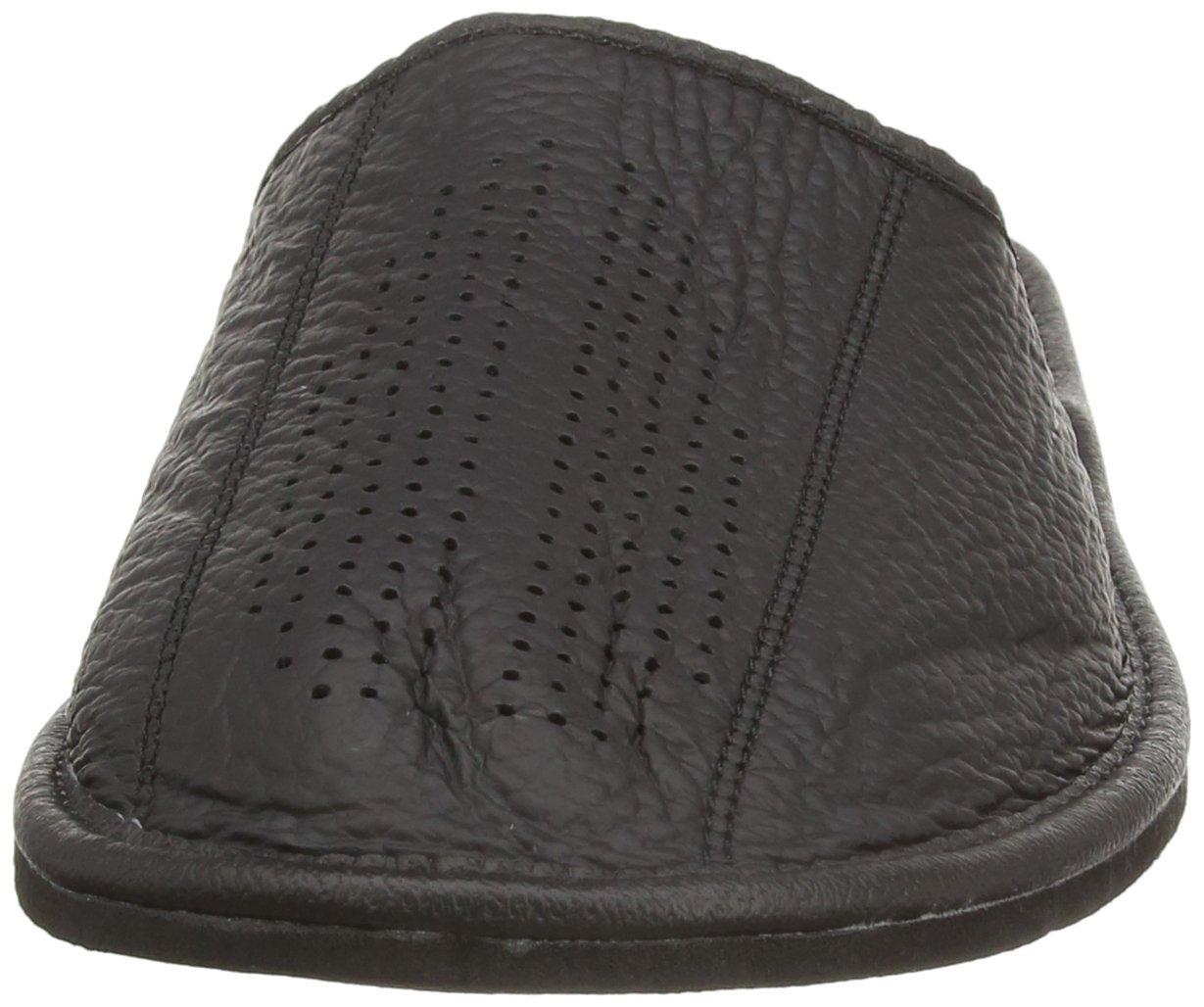 Auténtica piel de hombres zapatillas, chanclas, Mulas con suela anatómica o forro de lana. Varios colores
