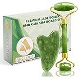 Arclogy Jade Roller and Gua Sha Scraper Jade Face Roller Set Beauty Gifts Sets for Women UK Design Beauty Tool Anti…
