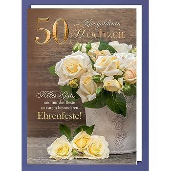 Riesen 50 Goldhochzeit Karte Grusskarte Goldene Hochzeit