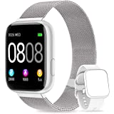 AIMIUVEI Smartwatch, Reloj Inteligente Mujer Hombre IP67 con Pulsómetro, 1.4 Inch Smartwatch Presión Arterial Monitor de Sueñ