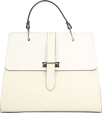 Chicca Borse Borsa a Mano Donna in Pelle Made in Italy 35x29x10 Cm