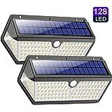 Lampe Solaire Extérieur,【Version étanche Durable】Trswyop 128 LED Lumière Solaire avec Détecteur de Mouvement 2200mAh…