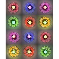 CraftVatika 12 Designer Transparent Diya Deepak 3D floating Reflection Diya Combo Special Reusable Colourful Sai Ram…