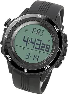 Pêche Montre Baromètre 3ATM Etanche Thermomètre Altimètre Hommes militaires de sport numérique Montres