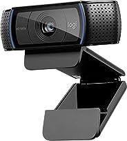 Logitech C920 HD Pro Webcam für Amazon, Full HD 1080p/30fps Video Calling, Klarer Stereo-Sound, HD Lichtkorrektur, Für Skype, Zoom, FaceTime und Hangouts, PC/Mac/Laptop/Macbook/Tablets - Schwarz
