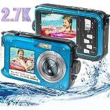 Appareil Photo Etanche Numérique, Camera sous Marine Full HD 2.7K 48MP Camera Etanche avec Double écran, Zoom Numérique 16X e