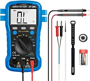 Digital Multimeter Ap 39k Auto Ranging 4000 Counts Tester Measures Ac Dc Voltage Current Resistance Capacitance Diode Test Frequency With Ncv Continuity Buzzer Backlight Baumarkt