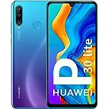 Huawei P30 Lite Utan Simlås, Utan Branding, Utan Avtal, Påfågelsblå