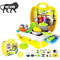 Royals Hub® Luxury Kitchen Set Cooking Toy with Briefcase and Accessories  Ultimate Kid Chef Bring Along Kitchen…