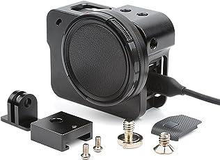 D&F CNC Aluminiumlegierung Schutzhülle Rahmen Outdoor Sport Gehäuse Kamera Shell Box Rahmenhalterung mit 52mm UV Filter für GoPro Hero 7 Schwarz