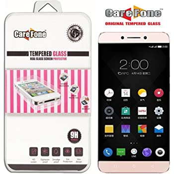 CareFone LeEco Le 2 Tempered Glass, Screen Protector, [9H Hardness] [Bubble Free] [Anti-Scratch] [Crystal Clarity]