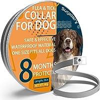 Collare Antipulci Cane, Collare Antipulci per Cani Impermeabile Regolabile con Protezione di 8 Mesi, Collare Antipulci…