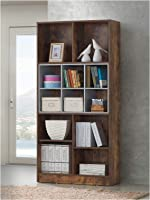 Maison Concept Wooden Shelves, Brown - H 1640 mm x W 298 mm x D 800 mm
