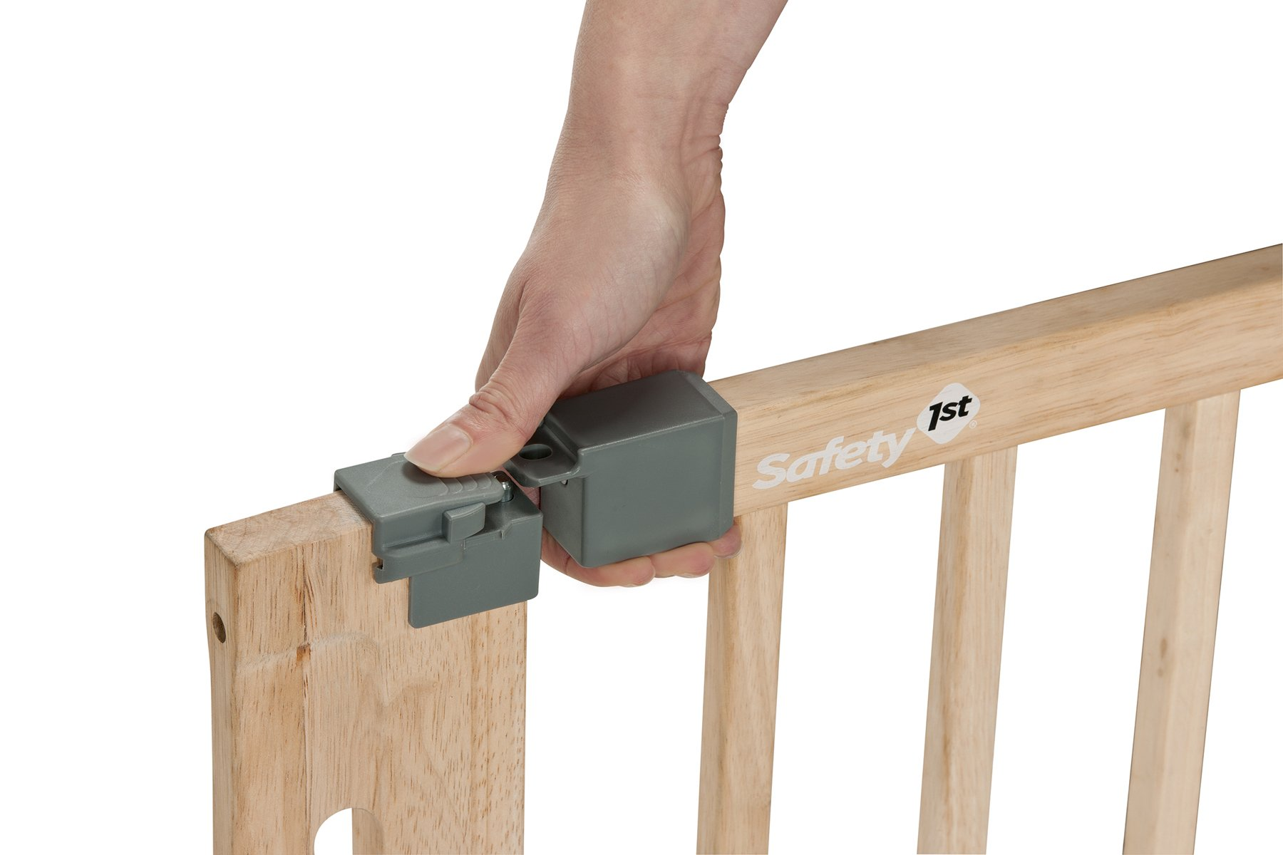 Safety 1st Easy Close Safety Gate Made from Wood / Pressure Fit / Natural  Stable door safety gate made of gum tree wood Easy to install due to 4-point clamping function Adjustable from 73 to 80.5 cm 2