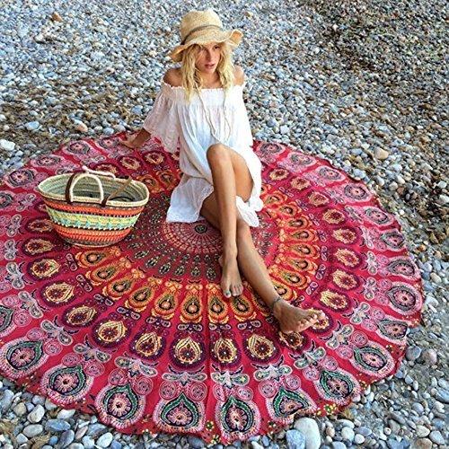Rund, Zum Aufhängen Beach Yoga Handtuch Bohemia Matte Stil Wandteppich Print