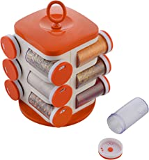Jony Plastic Spice Rack, 21 cm x 17.5 cm x 21 cm, 1-Piece, Orange