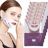 AntiGravity Lifting Mask, Double Chin Reducer, 3D V-Shape Thin Face Mask Lifting Firming Fat Burn V Line - 6 Masks